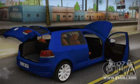 Volkswagen Golf Mk6 2010 for GTA San Andreas back view