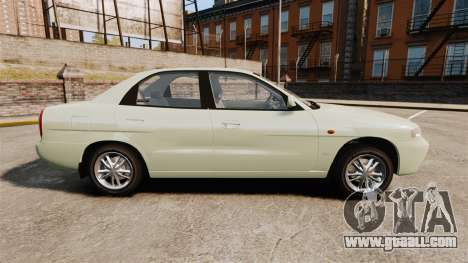 Daewoo Nubira I Sedan CDX PL 1997 for GTA 4 left view