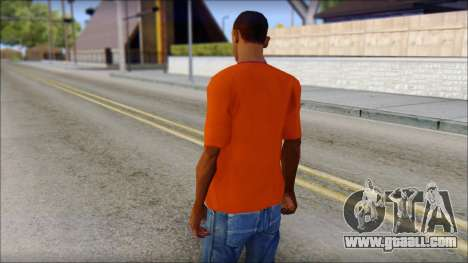 Fred Perry T-Shirt Orange for GTA San Andreas second screenshot