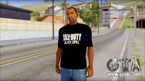 COD Black Ops 2 Fan T-Shirt for GTA San Andreas