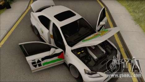 Lexus IS350 FSport 2014 Hellaflush for GTA San Andreas back view