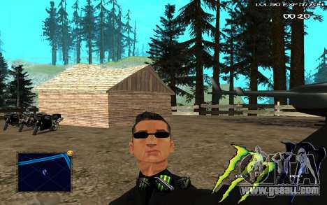 C-HUD Monster Energy for GTA San Andreas second screenshot