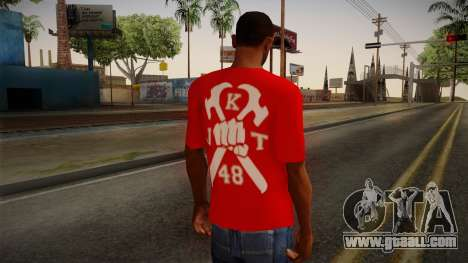 JKT48 Hardcore T-Shirt for GTA San Andreas second screenshot