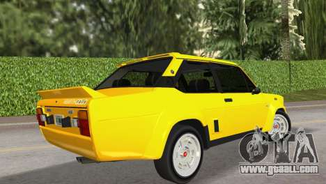 Fiat 131 Abarth Rally 1976 for GTA Vice City left view