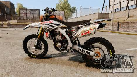 Yamaha YZF-450 v1.15 for GTA 4 left view