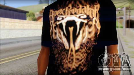 Randy Orton Black Apex Predator T-Shirt for GTA San Andreas third screenshot