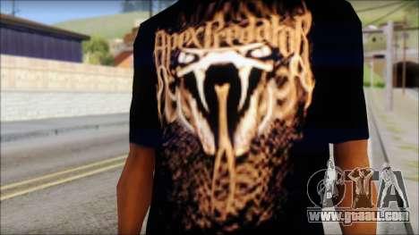 Randy Orton Black Apex Predator T-Shirt for GTA San Andreas third screenshot