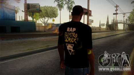 Silla Rap Elektro Schock Shirt for GTA San Andreas second screenshot