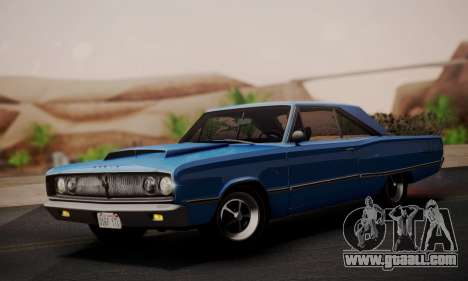 Dodge Coronet 440 Hardtop Coupe (WH23) 1967 for GTA San Andreas back left view