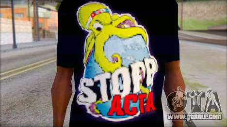 Anti ACTA T-Shirt for GTA San Andreas third screenshot