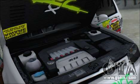 Volkswagen Golf MK4 R32 for GTA San Andreas engine