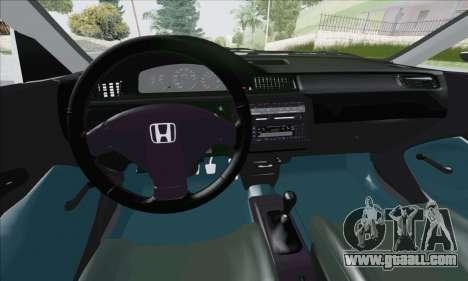 Honda Civic 1995 for GTA San Andreas inner view