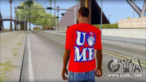John Cena Red Attire T-Shirt for GTA San Andreas second screenshot