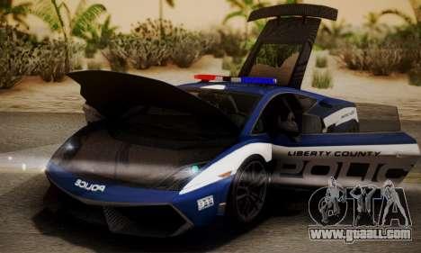 Lamborghini Gallardo LP570-4 2011 Police for GTA San Andreas right view