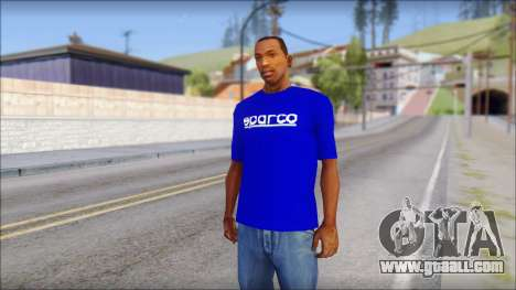 Sparco T-Shirt for GTA San Andreas
