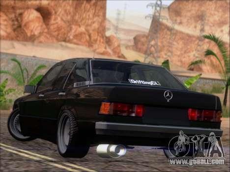 Mercedes Benz 190E Drift V8 for GTA San Andreas back left view