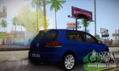Volkswagen Golf Mk6 2010 for GTA San Andreas left view