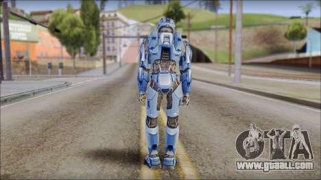 Masterchief Blue from Halo for GTA San Andreas third screenshot