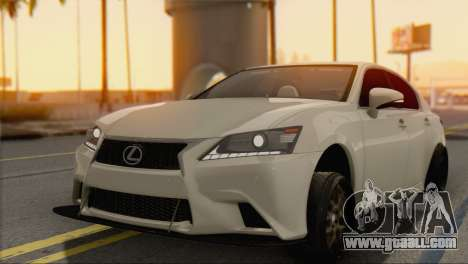 Lexus GS350 for GTA San Andreas left view