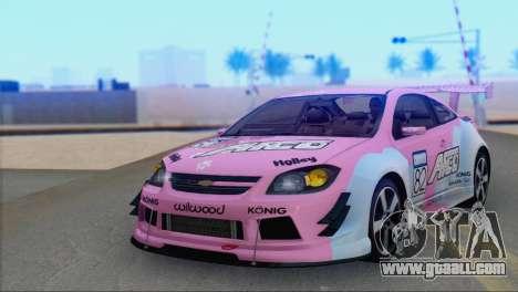 Chevrolet Cobalt SS for GTA San Andreas inner view