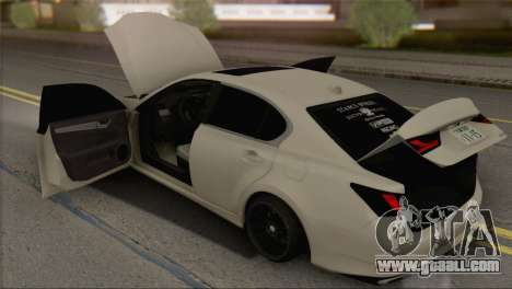 Lexus GS350 for GTA San Andreas back view