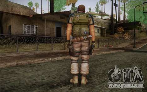 Chris Redfield from Resident Evil 6 for GTA San Andreas second screenshot