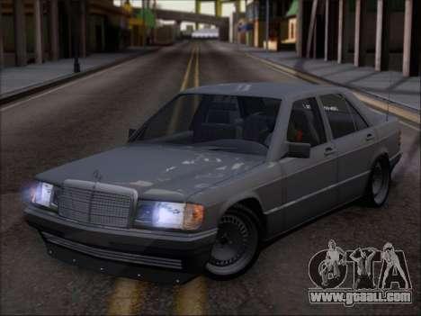 Mercedes Benz 190E Drift V8 for GTA San Andreas inner view