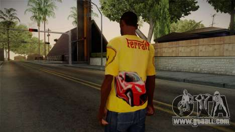 Ferrari T-Shirt for GTA San Andreas second screenshot