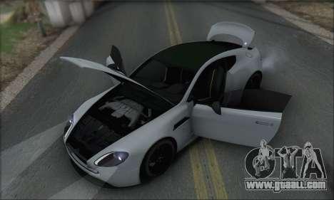 Aston Martin V12 Vantage S 2013 for GTA San Andreas interior