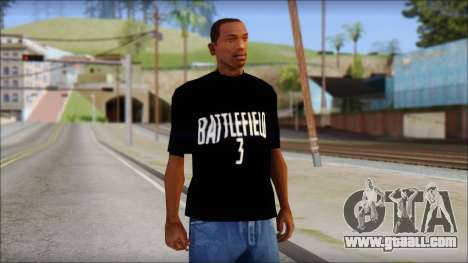 Battlefield 3 Fan Shirt for GTA San Andreas