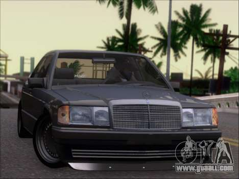 Mercedes Benz 190E Drift V8 for GTA San Andreas back view