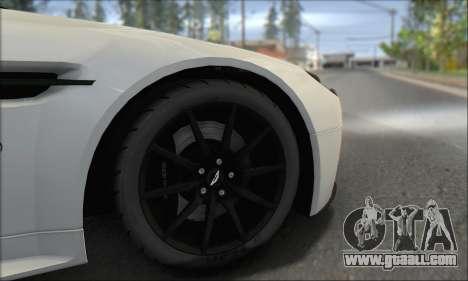 Aston Martin V12 Vantage S 2013 for GTA San Andreas upper view