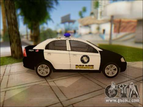 Chevrolet Aveo Police for GTA San Andreas inner view