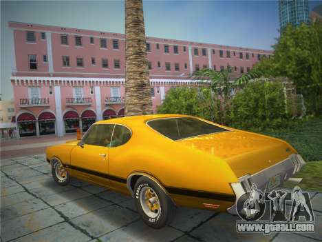 Oldsmobile 442 1970 for GTA Vice City left view