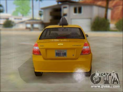 Chevrolet Aveo Taxi for GTA San Andreas inner view