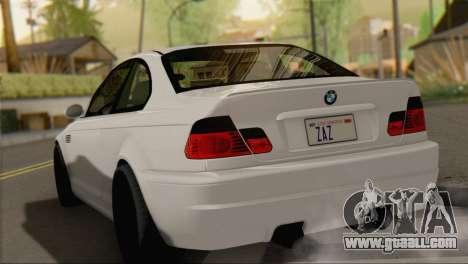 BMW M3 E46 Black Edition for GTA San Andreas left view