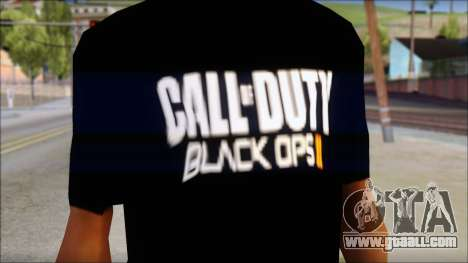 COD Black Ops 2 Fan T-Shirt for GTA San Andreas third screenshot