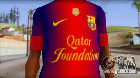 Barcelona Messi T-Shirt for GTA San Andreas third screenshot