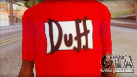 Duff T-Shirt for GTA San Andreas third screenshot