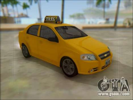 Chevrolet Aveo Taxi for GTA San Andreas left view