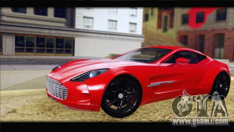 Aston Martin One-77 2010 for GTA San Andreas left view