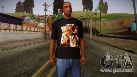 The Beatles Let It Be T-Shirt for GTA San Andreas