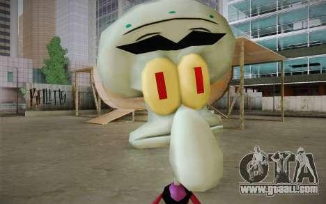 Squilliam from Sponge Bob for GTA San Andreas third screenshot