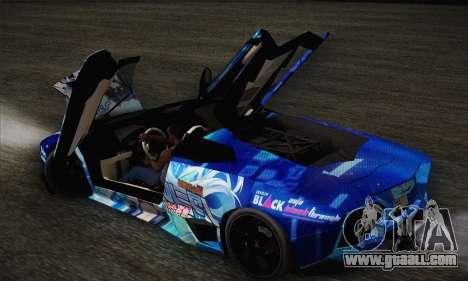 Lamborghini Reventon Black Heart Edition for GTA San Andreas upper view