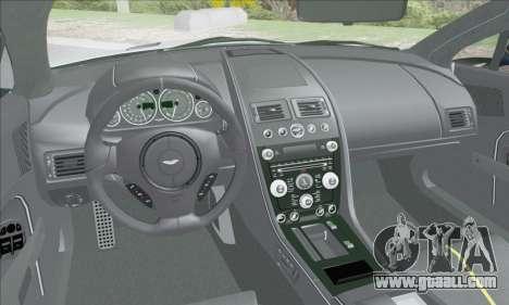 Aston Martin V12 Vantage S 2013 for GTA San Andreas bottom view