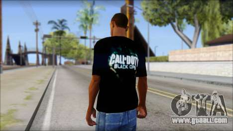 Black Ops T-Shirt for GTA San Andreas second screenshot