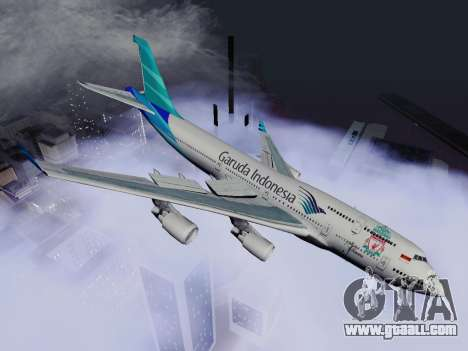 Boeing 747-400 Garuda Indonesia for GTA San Andreas left view