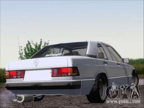 Mercedes Benz 190E Drift V8 for GTA San Andreas right view