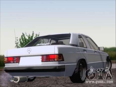 Mercedes Benz 190E Drift V8 for GTA San Andreas right view