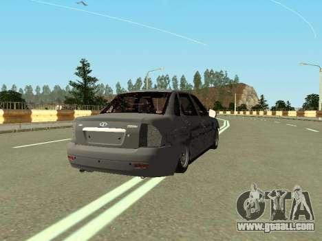 VAZ 2170 for GTA San Andreas back left view
